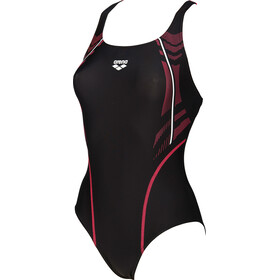 arena Energy Swim-Pro One Piece Swimsuit Women black-fluo red